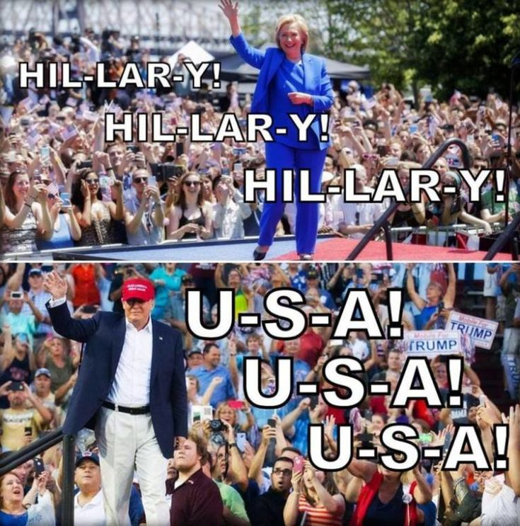 Hillary rally vs Trump rally. For GOD so loved the world not one person. Bla-Bla-Bla!!!