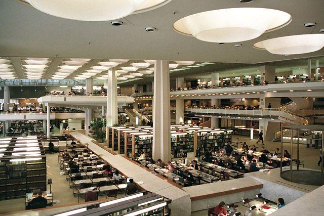 Salles de lecture, Staatsbibliothek / Bibliothèque nationale - Kulturforum…
