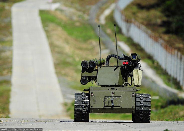 Russian combat robot Platforma-M
