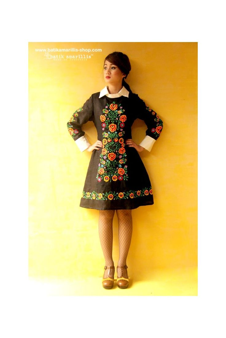 batik amarillis's wednesday dress-PO