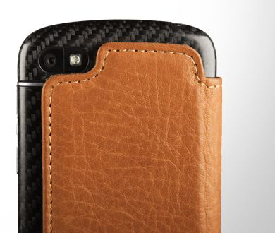 Slim Leather Folio BlackBerry Q10 Case