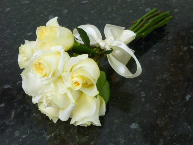 Wedding bouquet by Cottonbuds Florists Northampton