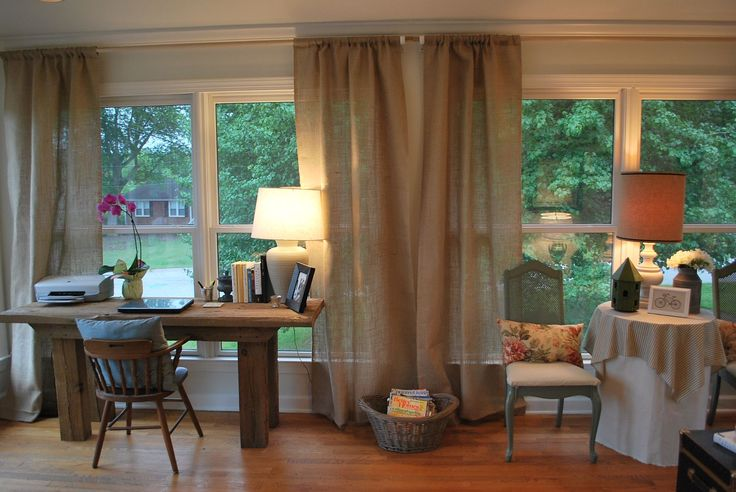 36 Living Room Decorating Ideas That Smells Like Spring: Best 25+ Burlap Curtains Ideas On Pinterest
