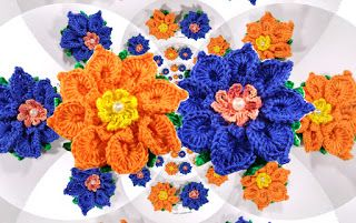 Tina's handicraft : 3D crochet flower No 27 - video tutorial & pattern...