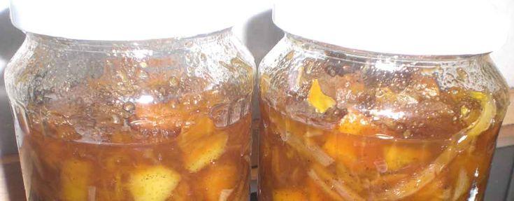 Græskarchutney - En svært vanedannende chutney. Spis den til flæskestegen, bøffen eller oven på ostemaden. Eller hvad du nu foretrækker.  - http://www.dropslankekuren.dk/tophistorie/graeskarchutney/