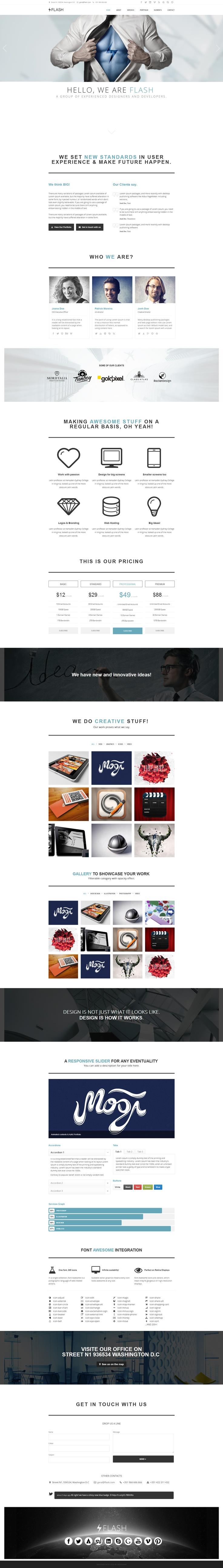 Flash - Retina Ready #Responsive Parallax #Template - #webdesign #theme #creative $14