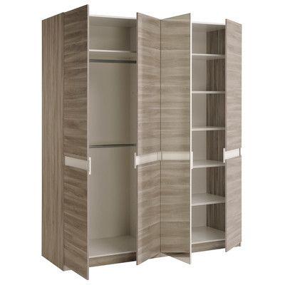 Mallow 4 Door Wardrobe Armoire Finish: Silex - http://delanico.com/armoires/mallow-4-door-wardrobe-armoire-finish-silex-668129157/