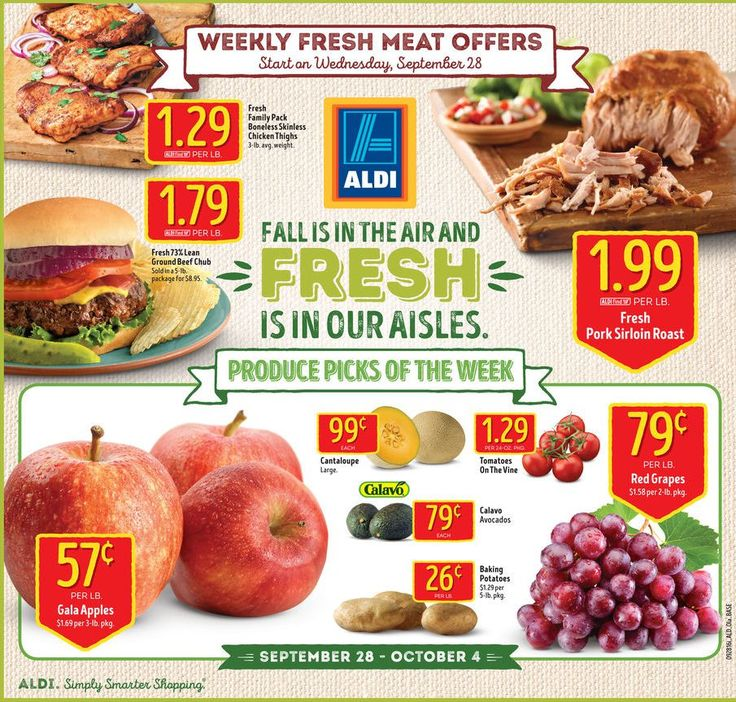 Aldi Weekly Ad September 28 - October 4, 2016 - http://www.olcatalog.com/grocery/aldi-ad.html