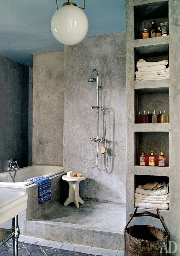 Great Way To Have A Separate Shower And Tub In A Small Space Without It  Feeling