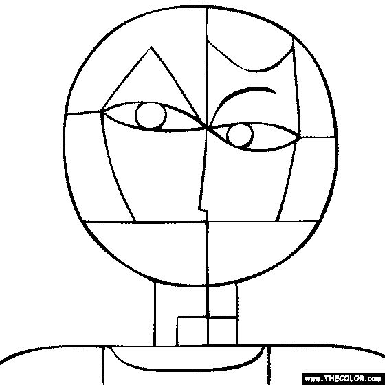 Paul klee senecio coloring page artists school for Paul klee coloring pages