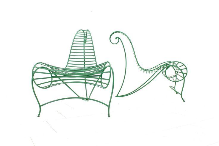 andré dubreuil / chaise en fer pour ceccotti