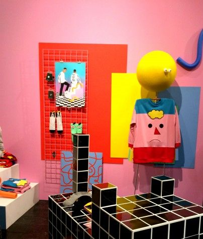 Sibling and Co visual merchandising inspiration | grid and geometric interior design inspiration