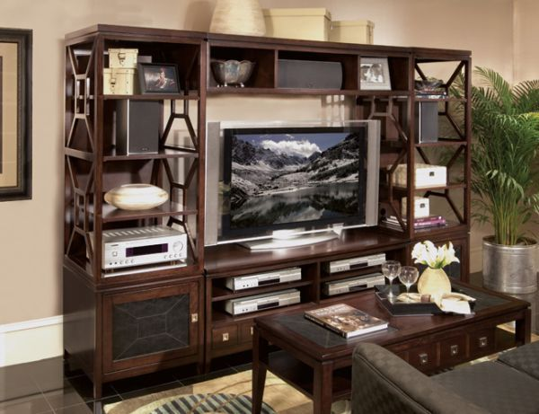 Home Entertainment Center with Home Theater System