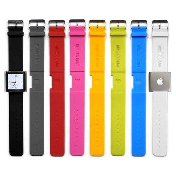 RUBBER BAND iPod Nano Watch Band // iLoveHandles