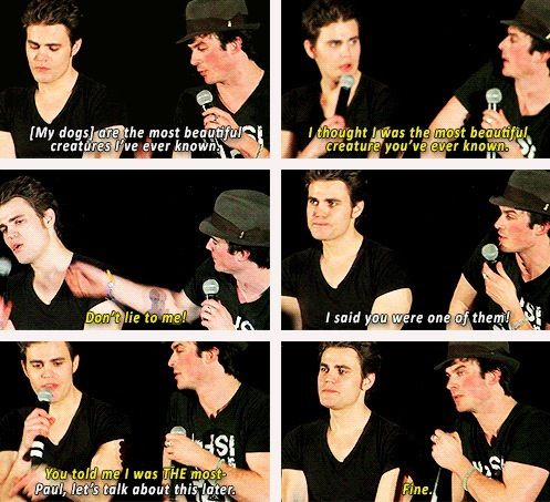 "Paul Wesley and Ian Somerhalder. My favorite ""brothers"" #TheVampireDiaries"