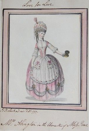 Mrs. Abington in the Costume of Miss Prue, 1777, British Museum, K,57.10