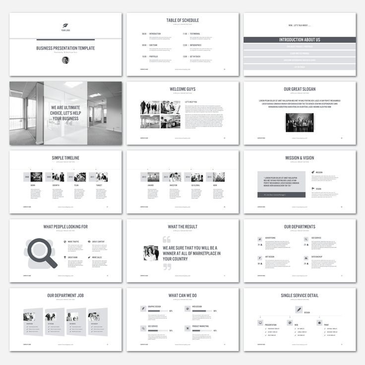 PowerPoint Business Presentation V.2 by shafura.studio on Creative Market