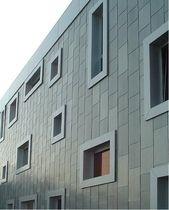 metal facade cladding: zinc-copper-titanium ZINTEK® TILE ZINTEK S.r.l.