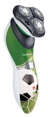 Der Remington HyperFlex Fußball Edition ist der ideale Rotationsrasierer für Männer die auf der Suche nach Qualität und Präzision sind, nicht nur auf dem Fußballplatz. Die bewährte HyperFlex-Technologie mit dem flexiblen 360°-Schwingkopf sorgt für maximalen Hautkontakt und Komfort.