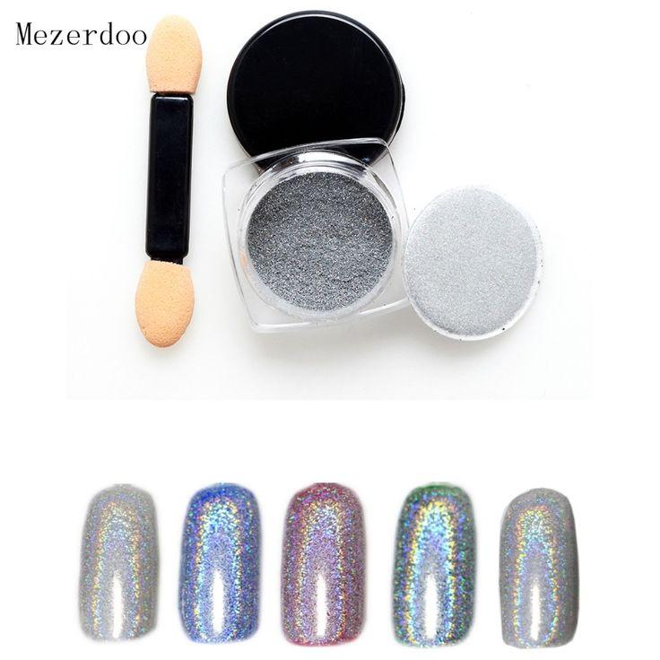 1g/Box Shiny Laser Nail Powder Holographic Nail Glitter Rainbow Chrome Pigment Manicure Pigments Dust Nail Art Decorations -  http://mixre.com/1gbox-shiny-laser-nail-powder-holographic-nail-glitter-rainbow-chrome-pigment-manicure-pigments-dust-nail-art-decorations/  #NailGlitter