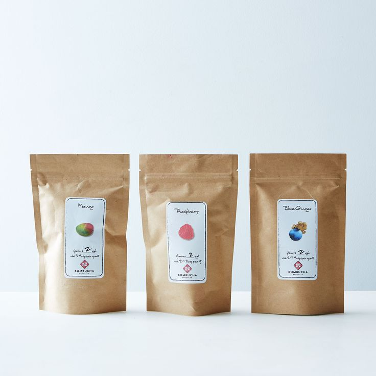 Kombucha Brooklyn Kombucha Brewing Flavor Sampler [Made of: Freeze-dried blueberry, raspberry, and mango, crystallized ginger]