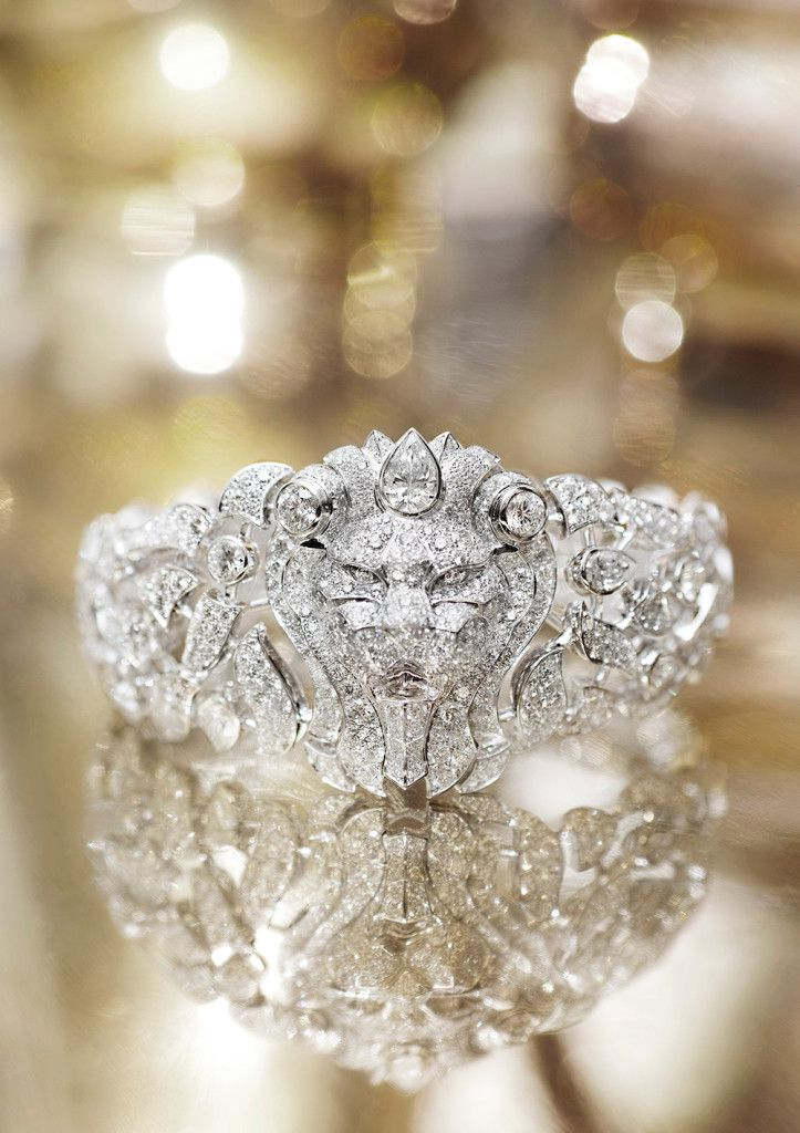 The perfect wedding ring for her......Chanel Sous le Signe du Lion Cuff....