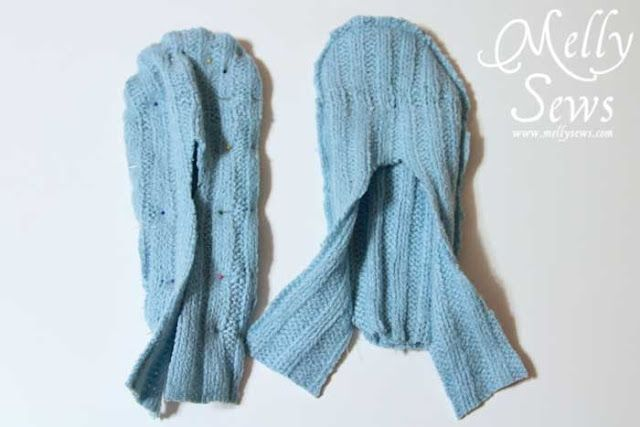 how to make felt slippers from a sweater