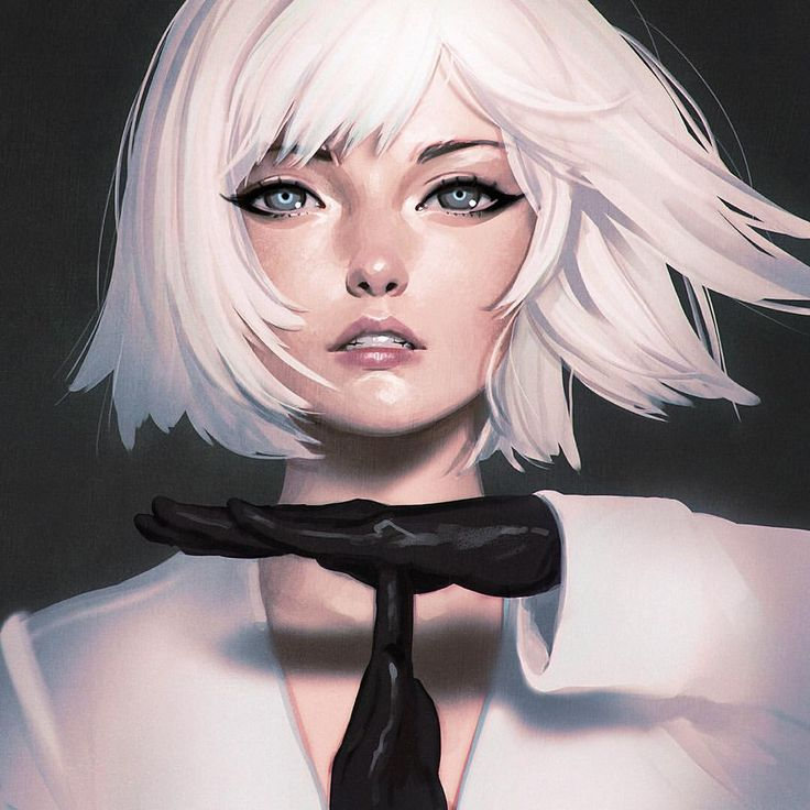 Illustrator: Ilya Kuvshinov #girl #face #realism