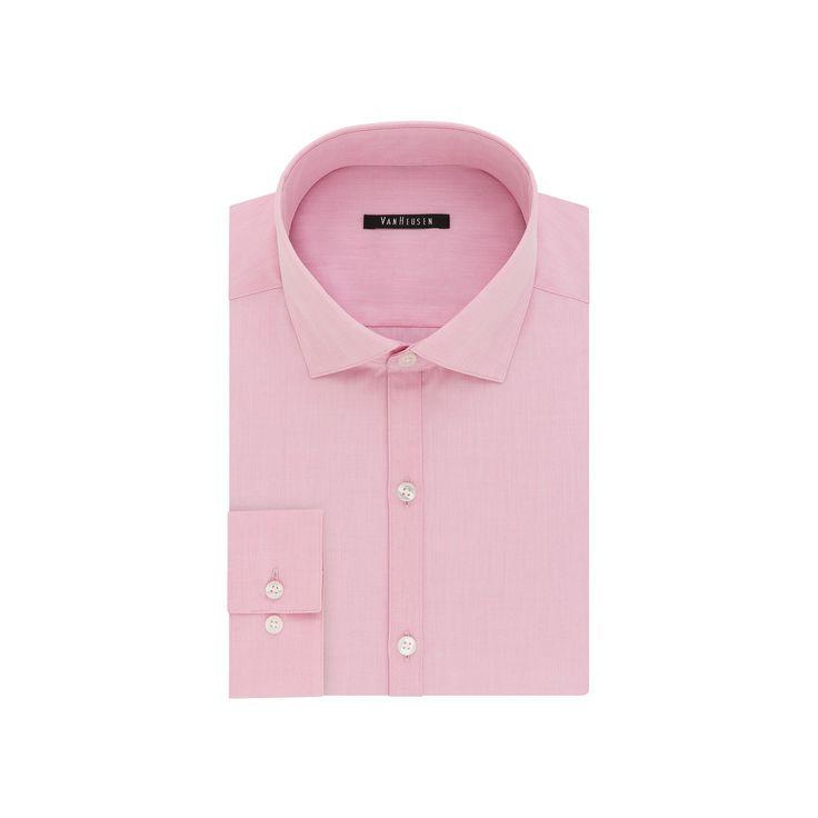 Men's Van Heusen Fresh Defense Extra-Slim Fit Dress Shirt, Size: 15.5-32/33, Pink