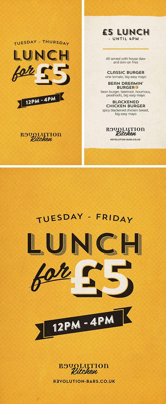 Flyer and Poster Graphic Design for Revolution Vodka Bars by www.diagramdesign.co.uk