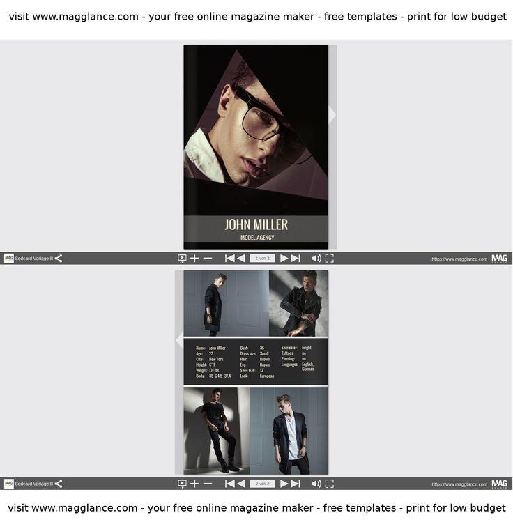 Model oder Schauspieler Sedcard kostenlos online erstellen und günstig drucken unter https://de.magglance.com/sedcard/sedcard-erstellen #Sedcard #Modelagentur #Vorlage #Design #Muster #Beispiel #Template #Gestalten #Erstellen #Layout #Model #Schauspieler