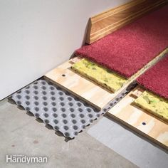 Prevent damp basement floors from ruining carpet and other finished flooring. Install dimpled polyethylene to create an air space between the concrete…