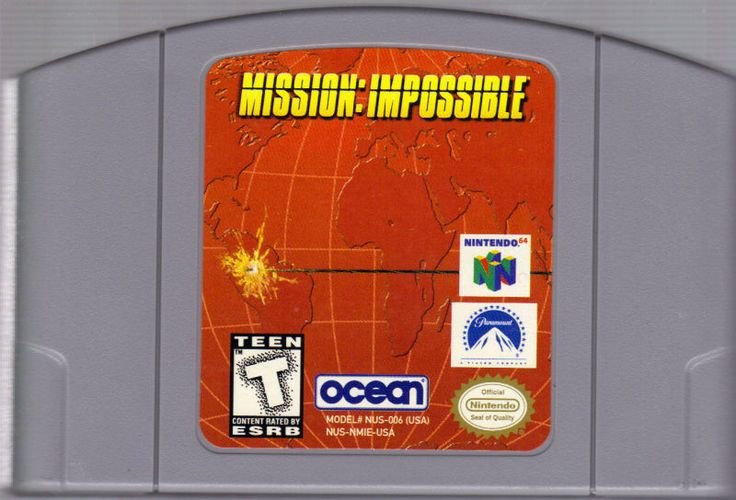 Today in gaming history  Mission Impossible was released June 18, 1998 on Nintendo N64  As always, should you, or any member of your IM Force be caught or killed, the Secretary will disavow any knowledge of your actions. As usual, Ethan Hunt will be your point man. This game will not self-destruct in five seconds, but you may... Good luck, Jim!  Game On! Video Game Depot