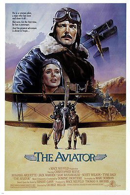 THE AVIATOR movie poster christopher REEVE rosanna ARQUETTE airplane 24X36