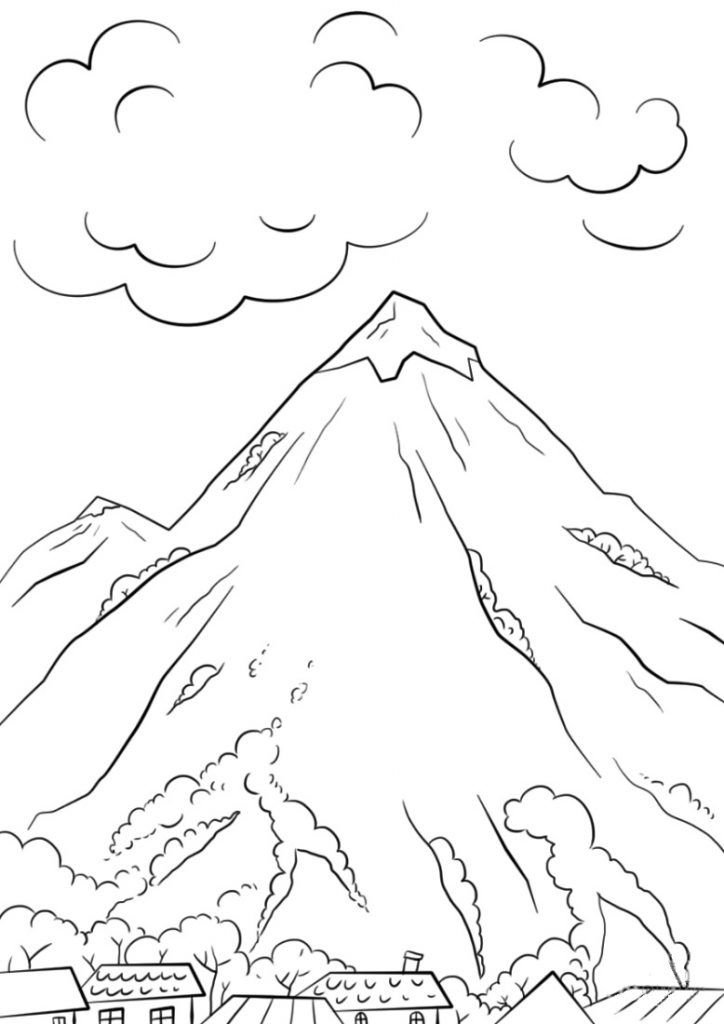 Mountains Coloring Pages | Coloring pages, Free printable ...