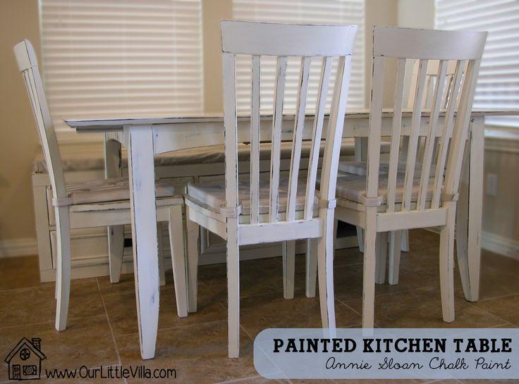 Chalk Paint Kitchen Table: 19 Best Images About Painted Kitchen Tables On Pinterest