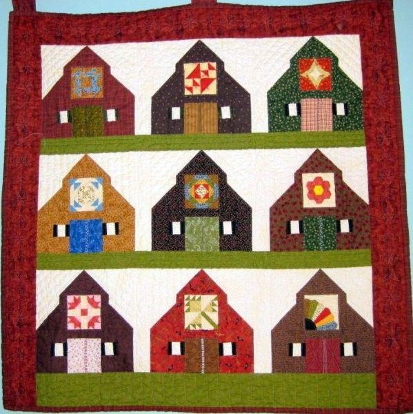 63 best Barn Paper Pieced Quilt Blocks images on Pinterest | Barn ... : quilt on barns - Adamdwight.com