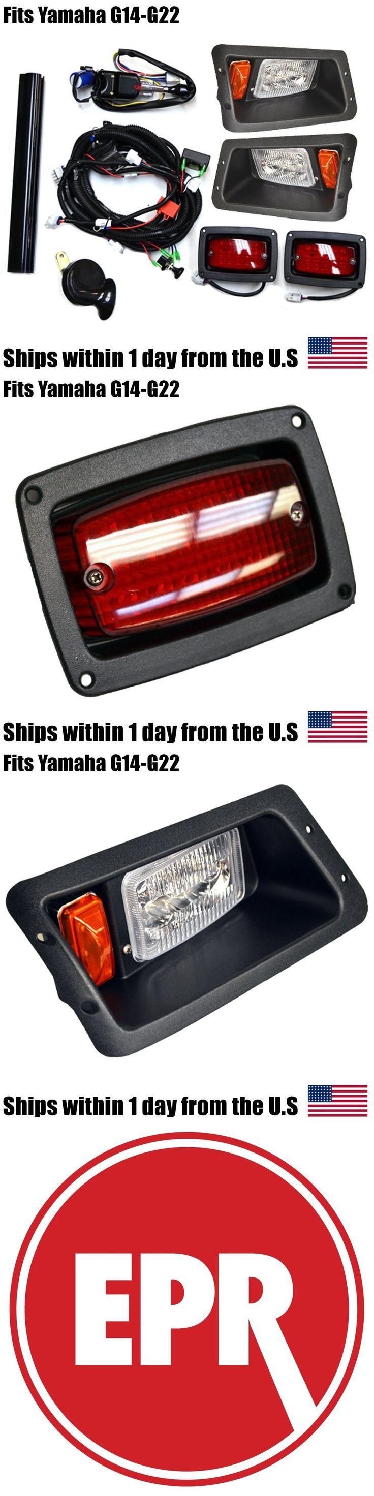 Push-Pull Golf Cart Parts 181154: Yamaha G14 G16 G19 G22 Golf Cart Street Legal All Led Headlight Tail Light Kit BUY IT NOW ONLY: $112.26