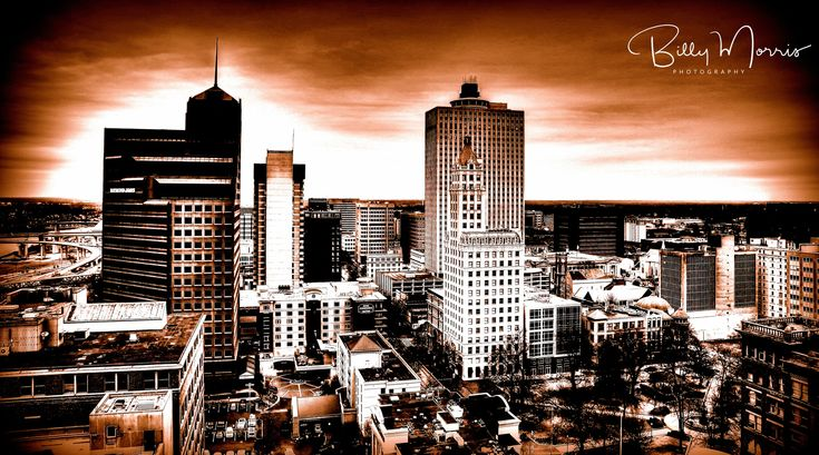 Beautiful Skyline picture of Downtown Memphis, TN taken from the rooftop of the Madison Hotel