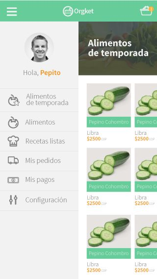 UI design for organic food app  #UI #app #organic #mobile