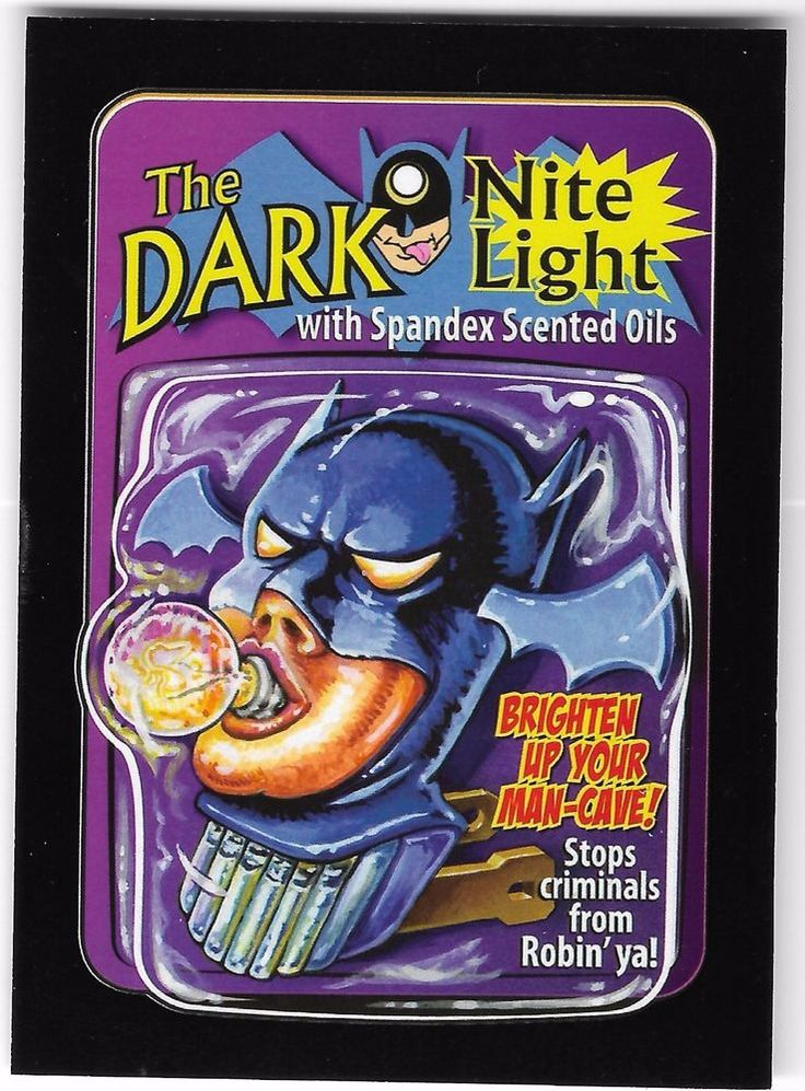 WACKY PACKAGES 50th ANNIVERSARY RED BACK LUDLOW 11/25 DARK NITE LIGHT BATMAN
