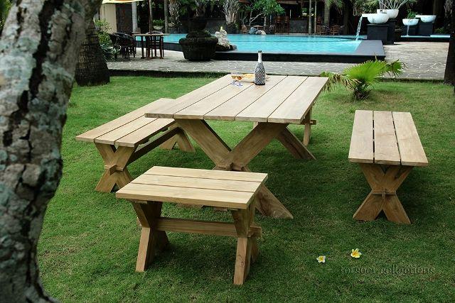 Teak Garden Furniture by Forsoer Furniture (cros set)