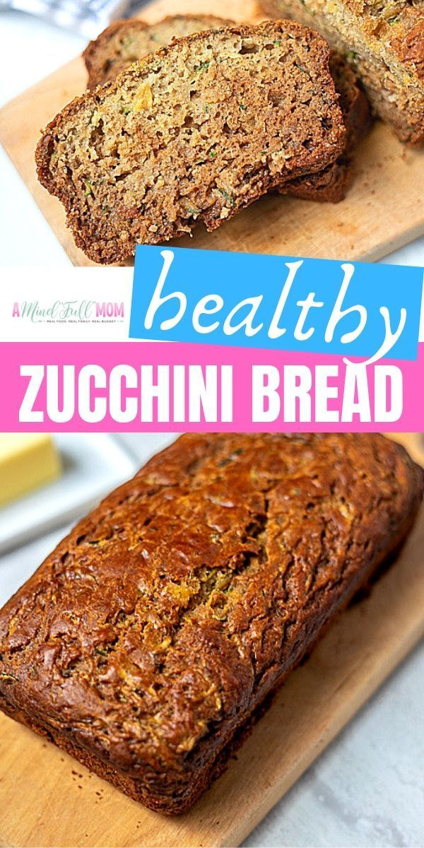 This Healthy Zucchini Bread Is Made With Fresh Zucchini Crushed Pineapple An Zucchini Bread Healthy Baking Recipes Healthy Best Healthy Zucchini Bread Recipe