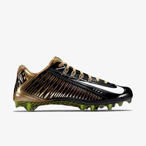 NEW NIKE VAPOR CARBON ELITE 2.0 TD 2014 Black Gold Football Cleats MENS 10 $185 #Nike #FootballCleats
