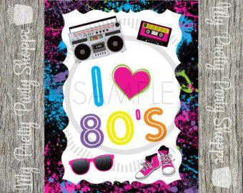 Década de los ochenta 80 ' s amo los años 80 cumpleaños
