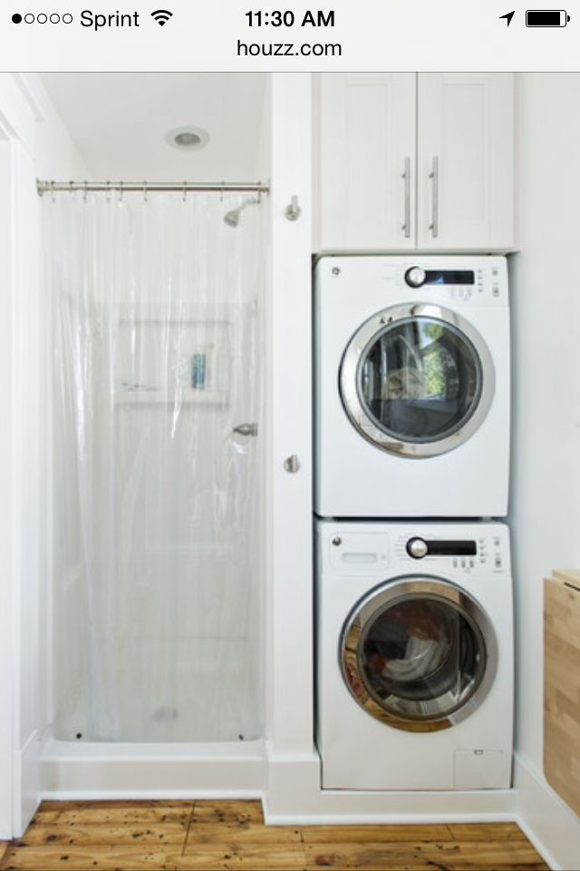 25 best ideas about bath laundry combo on pinterest laundry bathroom combo bathroom laundry for Washer and dryer in bathroom designs