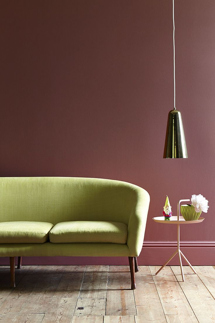 This is Ashes of Roses and Citrine from the Little Greene paint collection we love the sofa too!