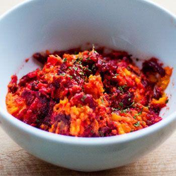 Zoete aardappelstamppot met rode bieten ♥ Foodness - good food, top products, great health