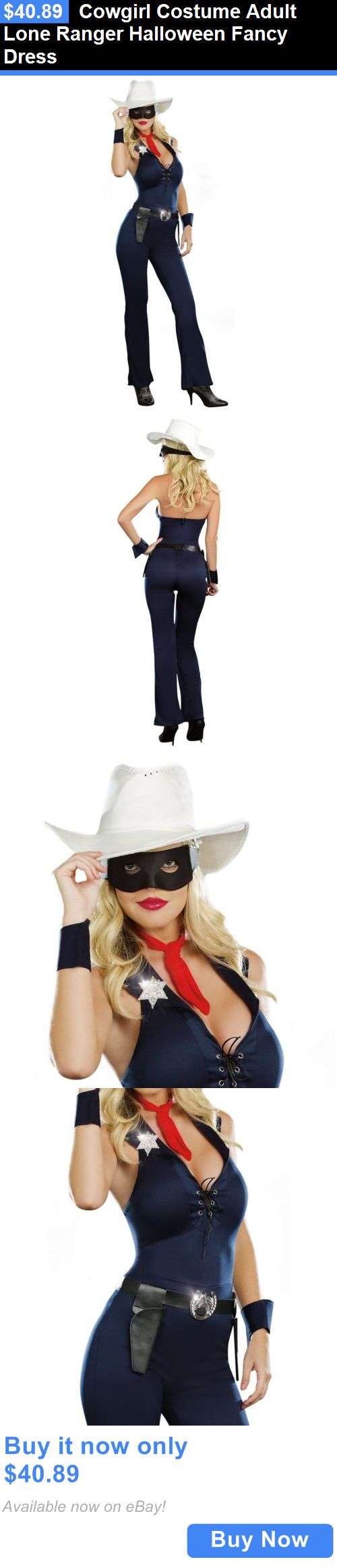 Halloween Costumes Women: Cowgirl Costume Adult Lone Ranger Halloween Fancy Dress BUY IT NOW ONLY: $40.89