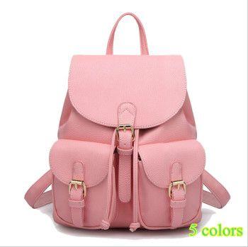 mochila de couro feminina rosa